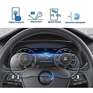 Volkswagen VW Tiguan II GTE Allspace 12.3-inch Dashboard Screen Protector, LFOTPP 9H Anti Scratch HD Clear Tempered Glass Car Navigator Protective Film