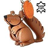 Ardilla Ernie–Pequeño Ardilla de llaves colgante de piel, una idea de regalo para mujeres y hombres en accesorios de animales salvajes, nagetier, escaneado gatito, escaneado resaca, Eichhorn