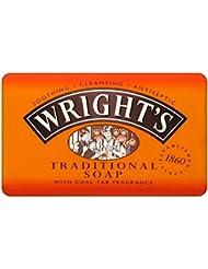 Wright de Goudron Charbon traditionnel Savon (125g)–Lot de 2