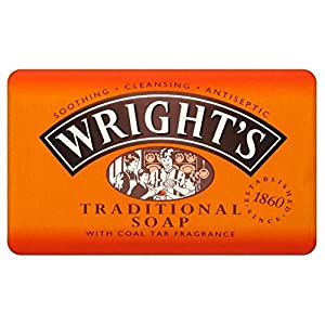51WkqENSFwL. SS300  - Wright's Coal Tar Traditional Soap (125g) - Pack of 2