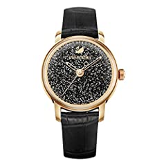 Idea Regalo - swarovski Orologio Crystalline Hours, nero