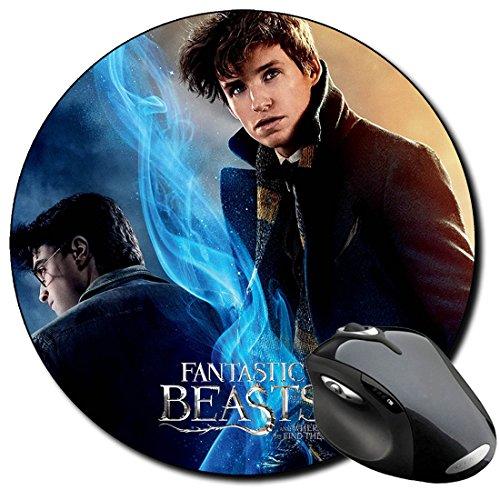 Harry Potter Daniel Radcliffe Eddie Redmayne Newt Scamander B Alfombrilla Redonda Round Mousepad PC