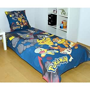 pokemon parure de lit housse de couette. Black Bedroom Furniture Sets. Home Design Ideas