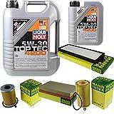 Filter Set Inspektionspaket 6 Liter Liqui Moly Motoröl Top Tec 4200 5W-30 MANN-FILTER Innenraumfilter Kraftstofffilter Luftfilter Ölfilter