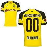 Puma BVB Borussia Dortmund Home Trikot mit Bundesliga Logo 2018 2019 Herren Ihr Wunschname Gr XXL