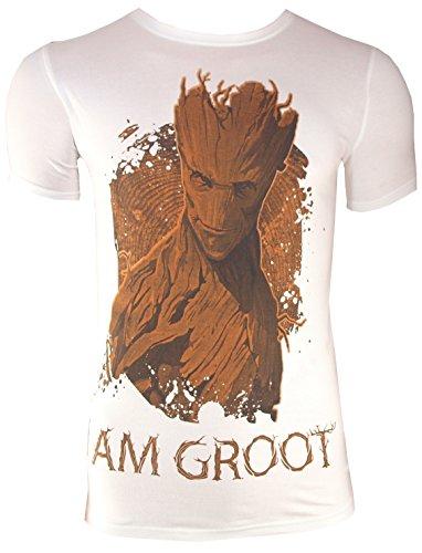 T-Shirt I AM GROOT, weiß (L)
