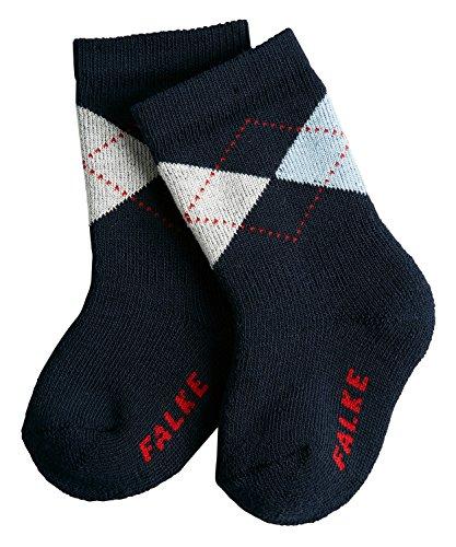 FALKE Unisex Baby Socken Argyle, Marine, 62-68