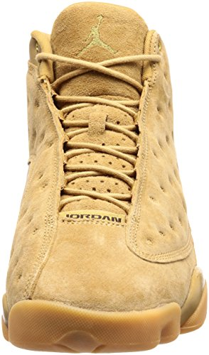 Nike Scarpe Uomo Air Jordan Retro XIII Wheat in Pelle Beige 414571-705 Beige
