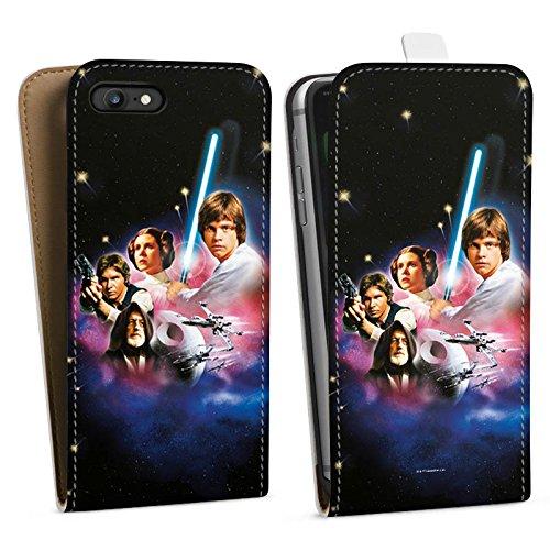 Apple iPhone X Silikon Hülle Case Schutzhülle Star Wars Merchandise Fanartikel A new hope Downflip Tasche weiß