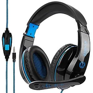 OEVAN PS4 Kopfhörer, SADES Gaming Headset Stereo Kopfhörer mit Mikrofon