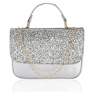 DN Enterprises Girls Stylish sling bag    party bag for office use    daily use evening party    sling bags clutch purses    sling bags Silver