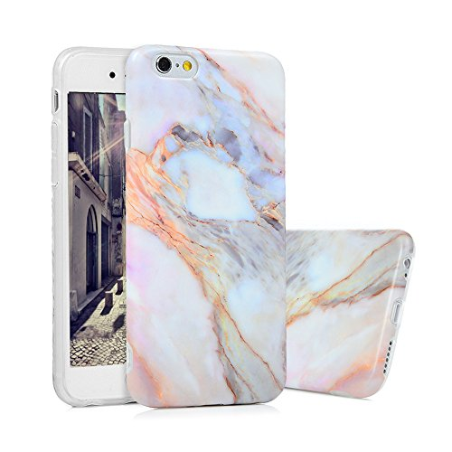 iPhone 6s Marmor Hülle, KASOS Marble Handyhülle : Silikon Case Weich TPU Huelle mit IMD Technologie für iPhone 6, Jade Color