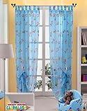 Original Disney Mickey & Minnie Mouse 1 St.XXL Fertig-Schlaufenschal/Gardine/Vorhang L 290cm x B 140cm Blau NEU 2013