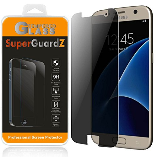 Privacy Screen Protector Guard (SuperGuardZ Für Samsung Galaxy S7 Sichtschutz Antispionage gehärtetem Glas Displayschutzfolie, 9H, 0,3 mm, 2.5D Round Edge, Kratzfest, blasenfrei)