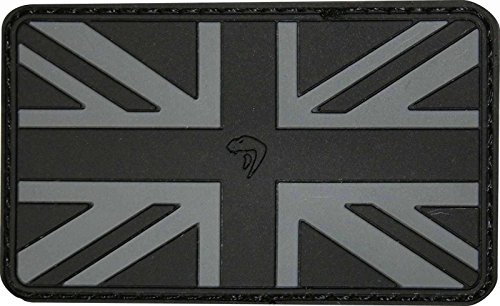 VIPER TACTICAL AIRSOFT 3D RUBBER MORAL PATCH SUBDUED UNION JACK PATCH