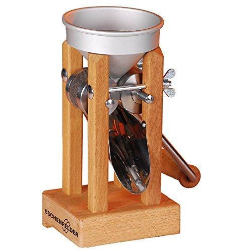 Eschenfelder Korn-Quetsche Tischmodell Alutrichter, Holz, 20