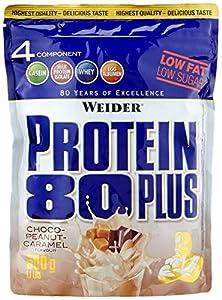 Weider, 80 Plus Protein, Schoko-Erdnuss-Karamell, 1er Pack (1 x 500g)