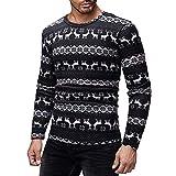 SuperSU Männer Weihnachten gedruckt T-shirt Herbst Winter Pullover Top Bluse Xmas Knitwear Coat Jacket Weihnachtspullover Pullover Strickpullover Strickmantel Christmas Strickwaren Sweatshirt