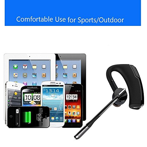 SEGURO Wireless Bluetooth Headset with Mic Bluetooth 4.1 HD Stereo Earbuds 180° Rotation Wireless Headphones Lightweight Noise Cancelling Earpiece Sweatproof HandsFree Earphones for Smartphones, Apple Iphone, Samsung, Lg, Pc Laptop Exercise Running Gym Driving Earphones in Car