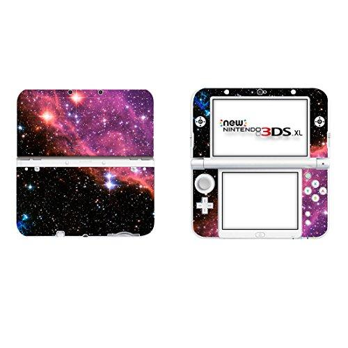skinown Cover Aufkleber Skin aus Vinyl für Nintendo 3DS XL, Rot Starry Sky (Nintendo 3ds Rot Xl)