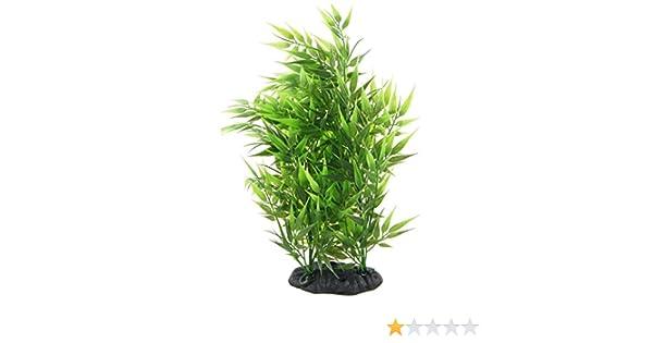 Toogoo R Bambus Blaetter Form Dekoration Kuenstliches Gras Fuer