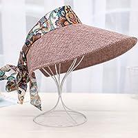 LBY Sombrero De Sol Sombrero De Mujer Superior Cubierta De Ciclismo Al Aire Libre Cara Sombrero De Sol Sombrero De Sol Plegable Plegable De La Versión Coreana Sombreros de Sol