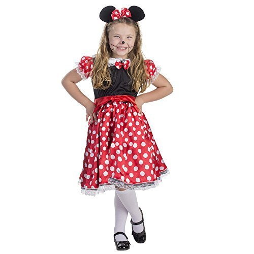 Dress Up America Charming Miss Mouse Costume (4 - 6 Years) by Dress Up America (Miss Mouse Kind Kostüm)
