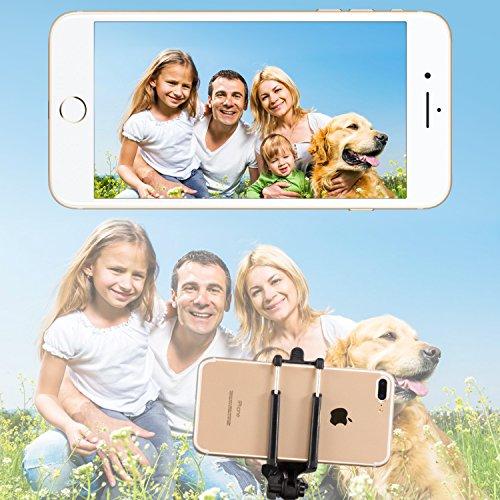 Bluetooth Selfie Stick, Alfort Multifunktionaler Selfie Stangen Erweiterbar Ausfahrbar Stab mit Stativ und Bluetooth Fernbedienung für iPhone 7 / 6S / 6 Plus / SE / 5S / 5C / 5, Samsung Galaxy S7 / S7 Edge, LG G6, HTC M9 M8, Sony Z5 Z4 Z3 Compact, Android und andere Smartphones (Schwarz) - 6