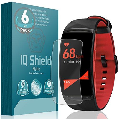 Samsung Gear Fit 2Pro Bildschirmschutzfolie (6er Pack), IQ Shield Matt Full Deckung Blendfreie Bildschirmschutzfolie für Samsung Gear Fit 2Pro blasenfreie Folie