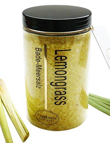 Badesalz Lemongrass Bade-Meersalz aus dem Toten Meer, Badezusatz 450 g (Bade-salz Belebende)