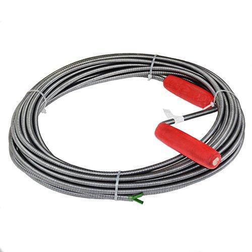 Rohrreinigungsspirale, 9mm x 20m, Abflussspirale, Rohrreinigungswelle, einfache Rohrreinigung