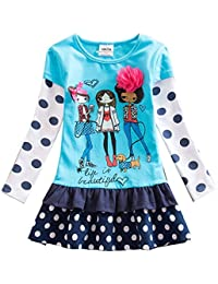 VIKITA Vestido Floral Manga Larga Algodón Niñas 2-8 años
