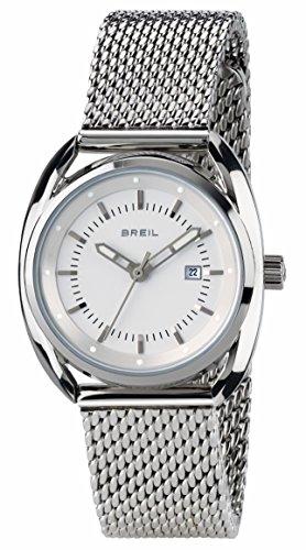 Breil tw1636 orologio da donna beaubourg, orologio solo tempo con quadrante bianco, cassa in acciaio da 32 mm, bracciale in acciaio, movimento al quarzo