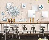 Tapeten Wand-Tapeten-Gewohnheitsplakat-Fotowand Der Frischen Blauen Hortensie 3D Quadratische Wand Professionelle Produktion