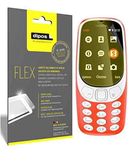 dipos I 3X Schutzfolie 100prozent passend für Nokia 3310 Folie (Vollständige Bildschirmabdeckung) Bildschirmschutzfolie
