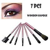 happy-day 7pz legno trucco pennello pennello per ombretto cosmetica Blending Tool