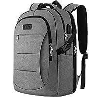 Business Laptop Backpack, TSA Friendly Travel Laptop Rucksack with USB Charging Port, Water Resistant College School Compurter Rucksack Bag for Boys & Girls
