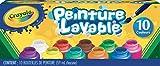 Crayola-I Lavabilissimi Tempere Lavabili in Barattolini Richiudibili, Pronte all'Uso, per Scuola e Tempo Libero, Colori Assortiti, 10 Pezzi, 54-1205