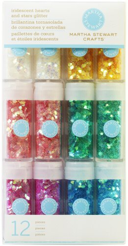 51Wl5xBd ML - Martha Stewart Iridescent Shaped Glitter 12 pezzi
