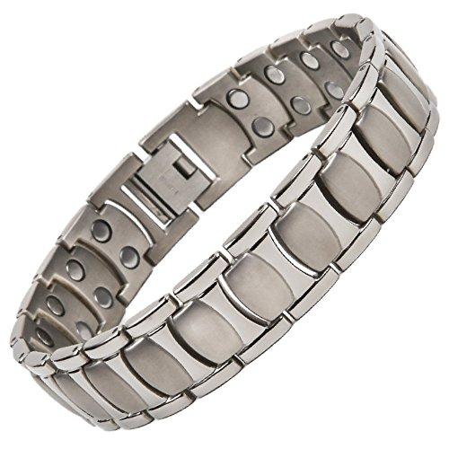 North South Titan T47zweireihig Magnetische Armband mit Freie Luxus Geschenkbox und Demontagewerkzeug