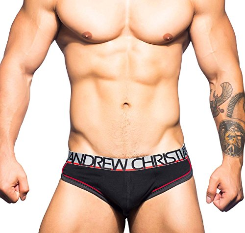 Andrew Christian Herren Slip SHOW-IT RETROPOP BRIEF 90374, schwarz (Christian Slip Andrew)