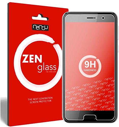 nandu I ZenGlass Flexible Glas-Folie für HTC U Play Panzerfolie I Bildschirm-Schutzfolie 9H I (Kleiner Als Das Gewölbte Bildschirm)