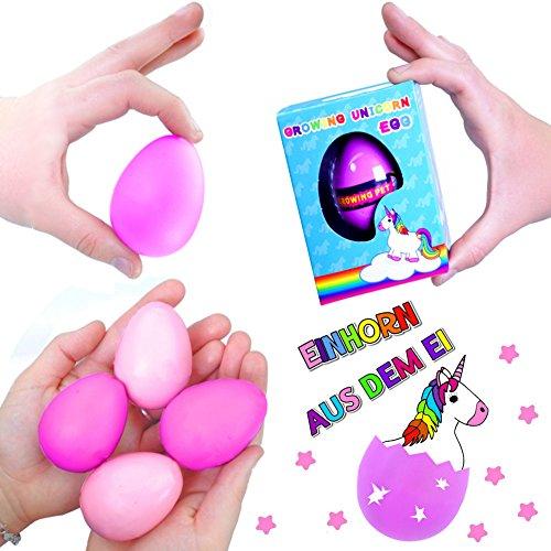 German Trendseller® 1 x huevo de unicornio ┃hatching egg┃┃ fiestas infantiles┃ idea de regalo┃piñata┃cumpleaños de niños┃ 1 unidad