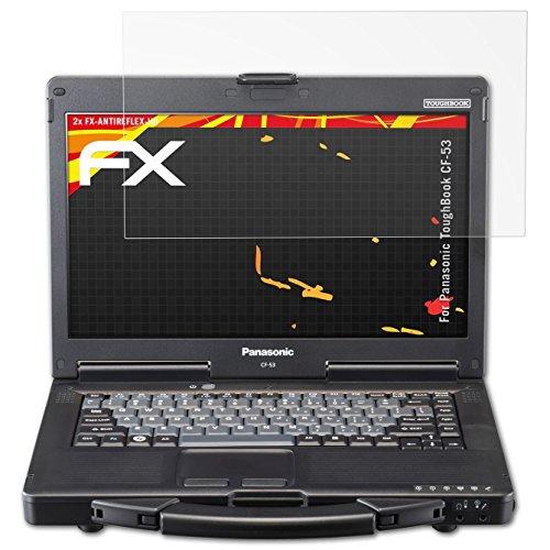 atFolix Schutzfolie kompatibel mit Panasonic ToughBook CF-53 Bildschirmschutzfolie, HD-Entspiegelung FX Folie (2X)
