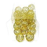 Drahtkugeln in gold, 1,5cm/3cm/4cm Drahtbälle, Dekokugeln, Sparbox !!! (4cm/ 24 Stück)