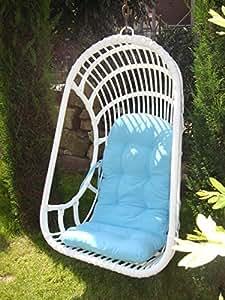 rattan h ngesessel h ngeschaukel h ngekorb h ngesessel aus rattan wei k che haushalt. Black Bedroom Furniture Sets. Home Design Ideas