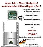 JOSTechnik Automatische Hühnerklappe JT-HK +Zeitschaltuhr+Klappe! Aktion vom Hersteller!