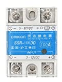 Woljay SSR-100DD 100A Solid State Module Relais Halbleiterrelais 3-32VDC 5-80VDC