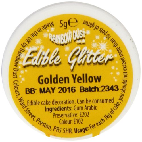 Rainbow Dust Edible Glitter Golden Yellow