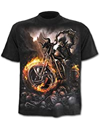 Spiral Wheels Of Fire Camiseta Negro